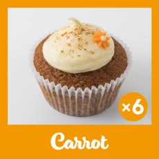 Photo1: Carrot Cupcakes (×6) (1)