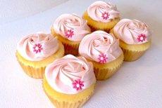 Photo2: Pink Vanilla Cupcakes (×6) (2)