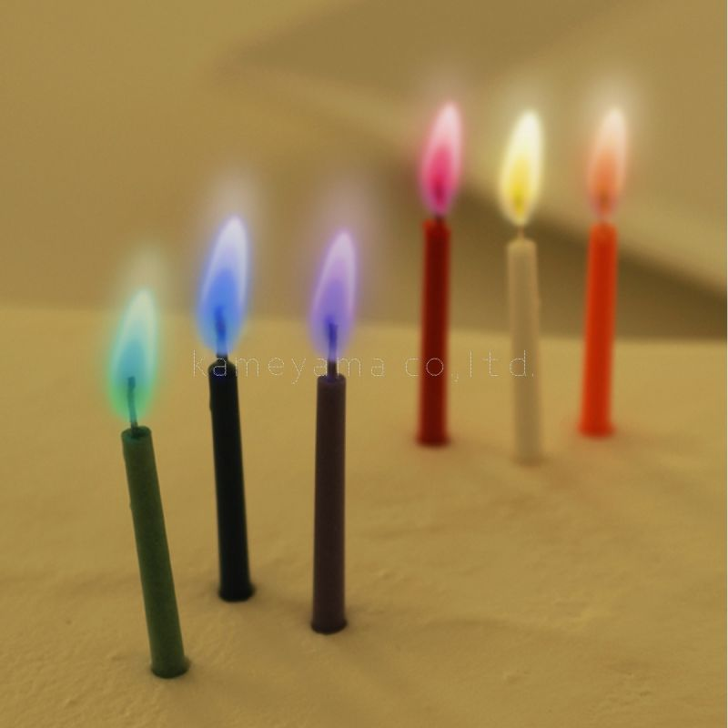 Photo1: Candle rainbowmothers (Rainbow Moment) 6 pcs in 6 colors (1)