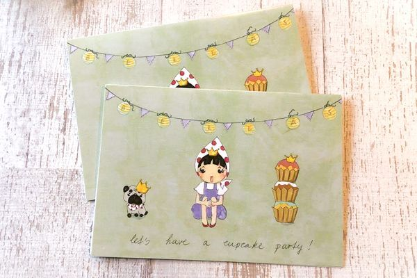 Photo1: Bellas Cupcakes original message card (1)