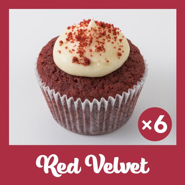 Photo1: Red Velvet Cupcakes (×6) (1)