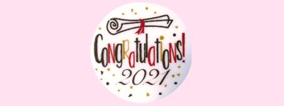 Photo1: [Option] Congratulations! 2021 (Edible print) (1)