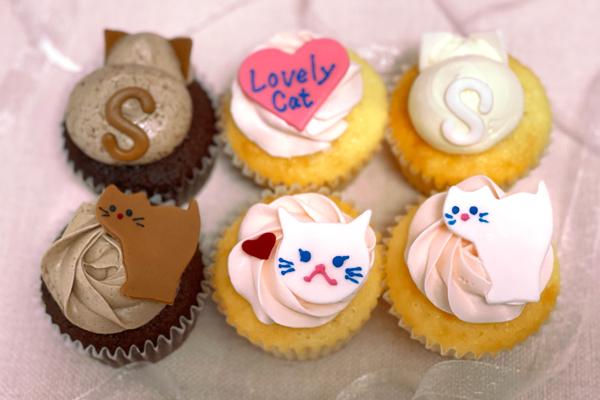 Photo1: Cat cupcake box (1)