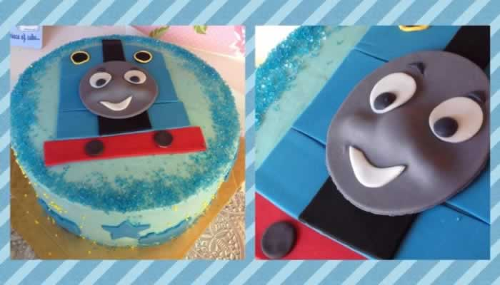 Photo1: Character buttercream covered cake (1)