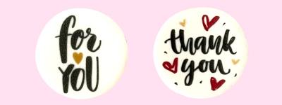 Photo1: [Option] for you & thank you (Edible prints) (1)